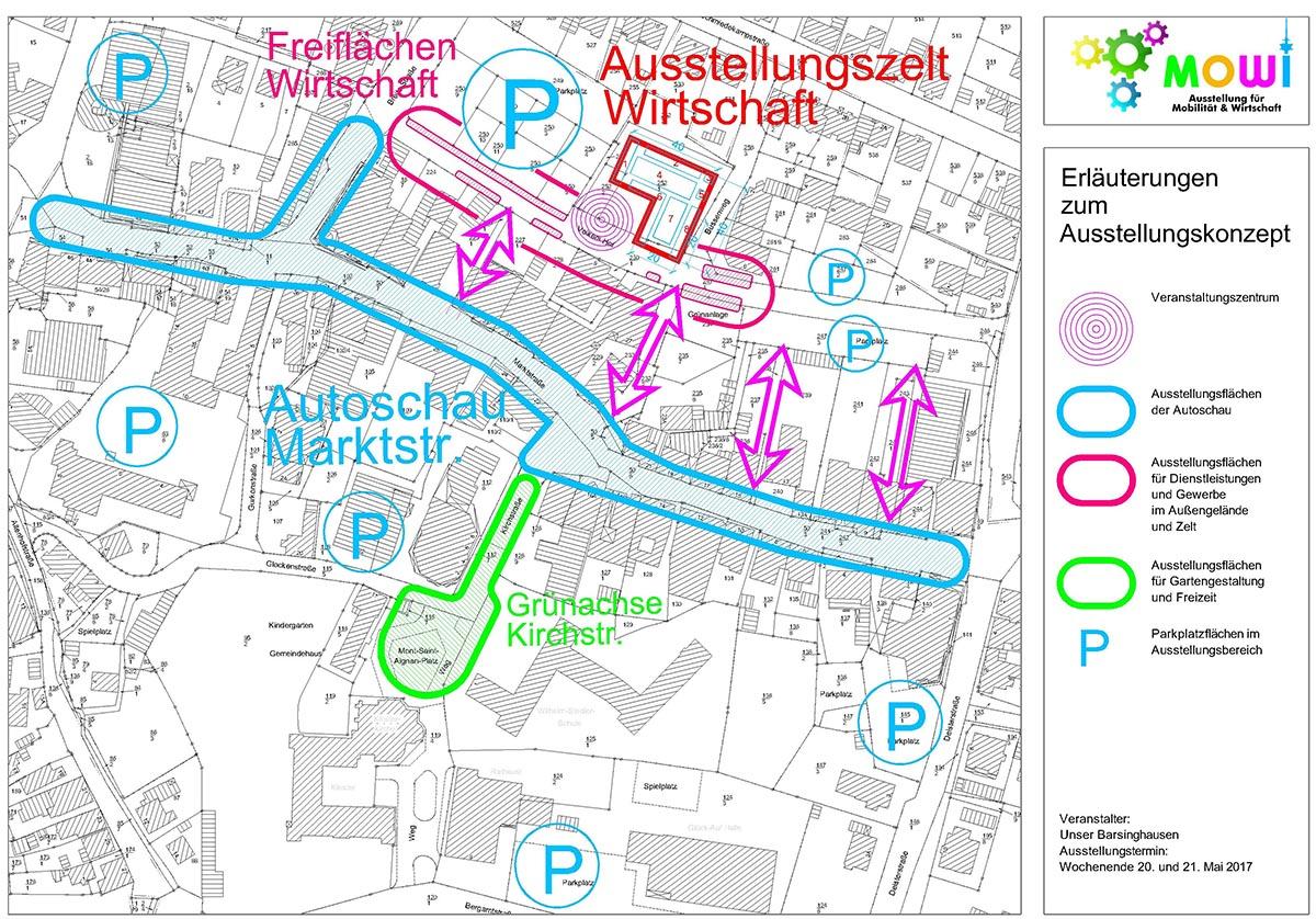 Der geplante Lageplan der MoWi